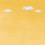 Clouds on yellow sky. Royalty Free Stock Photo