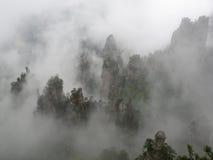 Clouds in Zhang Jia Jie. Clouds in the mountains at Zhang Jia Jie in China stock photo