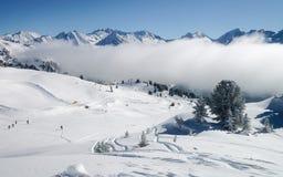 Clouds in Zillertal Arena ski resort Austria. Clouds in Zillertal Arena ski resort in Zillertal in Tyrol. Mayrhofen in Austria in winter in Alps. Alpine stock photography