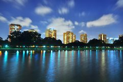 Clouds zooming past a lagoon at East Coast Park Royalty Free Stock Photography