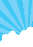 Clouds_and_rays Royalty Free Stock Photography