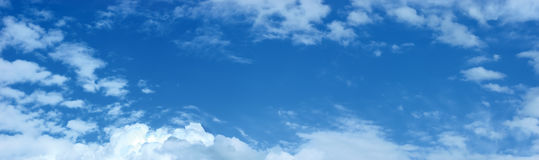 cloudscape全景 免版税库存照片