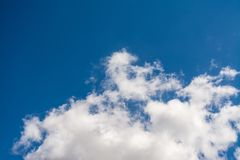 Cloudscape在一好日子 库存照片