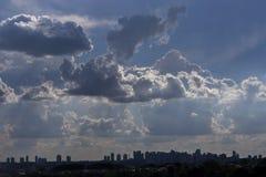 Cloudscape天空云彩背景自然风景自由的空气 免版税图库摄影