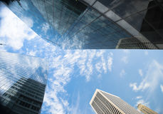 cloudscape摩天大楼 免版税库存图片
