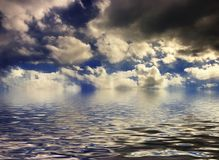 cloudscape日落 库存图片