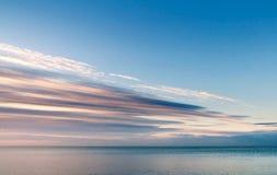cloudscape沿海早晨海运 库存照片