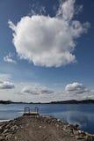 cloudscape海岸线 图库摄影