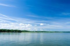 cloudscape海岸线 免版税库存图片