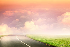 cloudscape风景看法的综合图象在天空的 库存图片