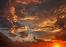 cloudscape黄昏天空 免版税图库摄影