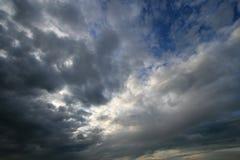 cloudscape黑暗 免版税库存图片