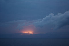 Cloudscape,中部大西洋的海洋 免版税库存图片