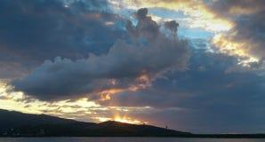 Cloudscape,波尔图Ercole,意大利 图库摄影