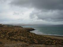Cloudscape över Fuerteventura Royaltyfri Bild