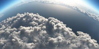 Cloudscape über Erde Lizenzfreie Stockfotos