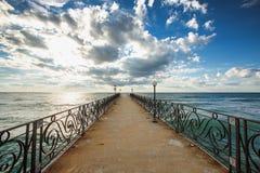 Cloudscape πέρα από τη θάλασσα Στοκ Εικόνες