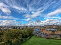 Cloudscape πέρα από το Εδιμβούργο στοκ εικόνες