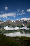 Cloudscape πέρα από mountainside στοκ εικόνα με δικαίωμα ελεύθερης χρήσης