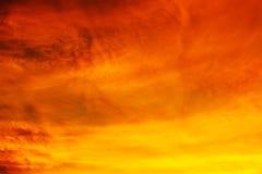 Cloudscape σε Suset για το υπόβαθρο Στοκ Εικόνα
