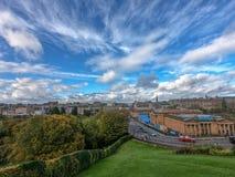 Cloudscape над Эдинбургом стоковое фото