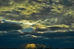 Cloudscape на заходе солнца Стоковая Фотография RF
