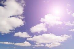cloudscape предпосылки красивейшее Стоковая Фотография RF