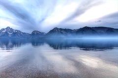 cloudscape湖 免版税库存图片