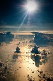 Cloudscape. Storms over the Gulf of Mexico Royalty Free Stock Photography