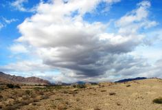 Cloudscape. Beautiful desert cloudscape in Iran Royalty Free Stock Image