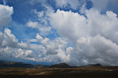 Cloudscape. A cloudscape in Bucegi Mountains,Romania royalty free stock images
