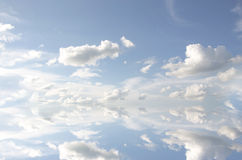 Cloudscape. White clouds in blue sky ,cloudscape Royalty Free Stock Photography