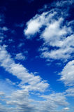 Cloudscape. White clouds in the blue sky Royalty Free Stock Images