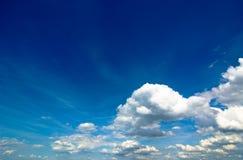 Cloudscape. A cloudscape with blue sky Stock Images