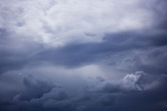 Cloudscape. Scenic view of dramatic cloudscape in dark blue sky Royalty Free Stock Image