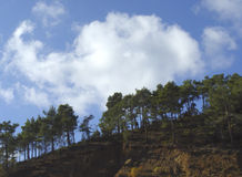 CloudScape. At the mountain of Troodos Cyprus Stock Image