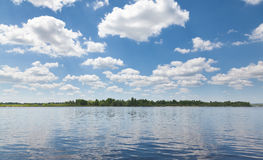 Cloudscape above calm water Royalty Free Stock Photography
