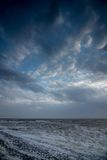 Cloudscape above the sea. Cloudscape above the dutch sea Royalty Free Stock Image