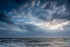 Cloudscape above the sea. Cloudscape above the dutch sea Royalty Free Stock Images