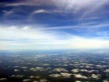 Cloudscape aereo scenico fotografia stock