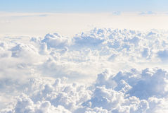 Cloudscape. Aerial view from an airplane Stock Photos