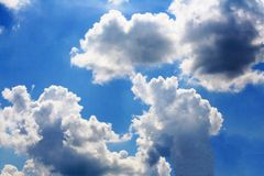 Cloudscape in the afternoon. Close up Cloudscape in the afternoon stock photo