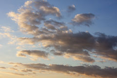 Cloudscape with afternoon shadows Stock Photography