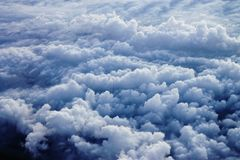Cloudscape. From an airplane window Royalty Free Stock Images