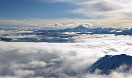 Cloudscape on alpine arc Royalty Free Stock Photo