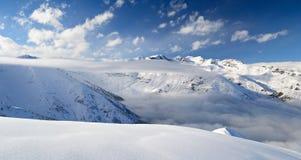 Cloudscape on alpine arc Royalty Free Stock Image