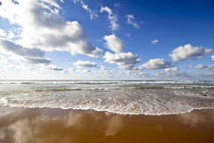 Cloudscape and the atlantic ocean Royalty Free Stock Images