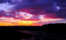 Cloudscape au coucher du soleil Photo libre de droits