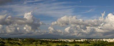 Cloudscape au-dessus de Lagos Photographie stock