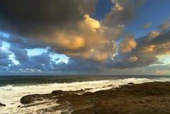Cloudscape au-dessus de mer Photo libre de droits